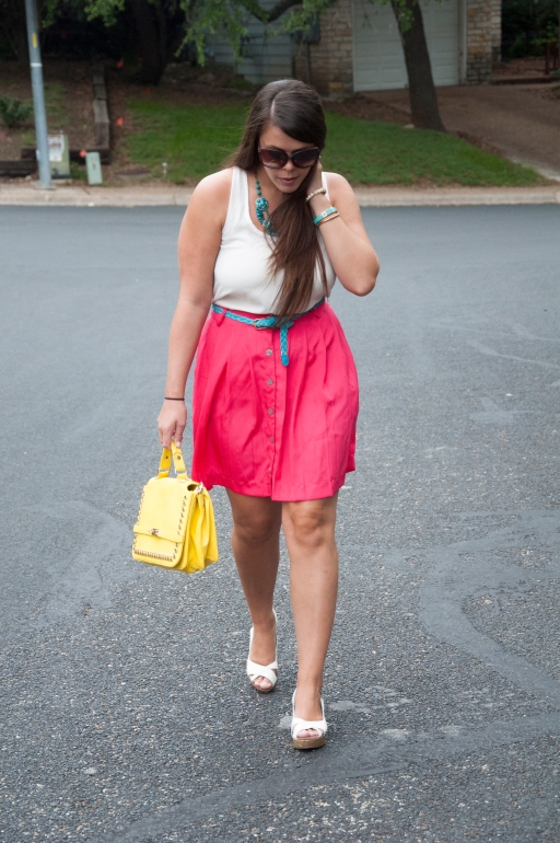 All That Glitters: Pink, Teal, and Yellow