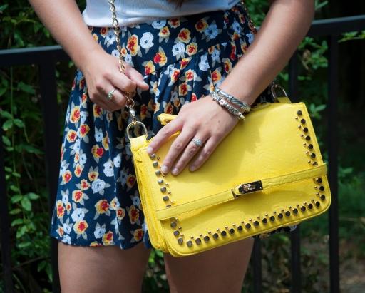 All That Glitters: Yellow Handbag