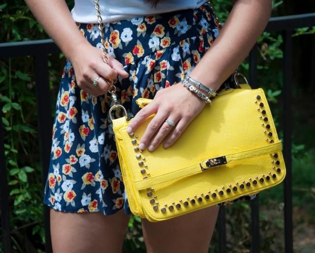 All That Glitters: Yellow Handbag