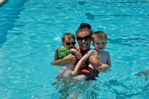 Swimming Alex and Anniston