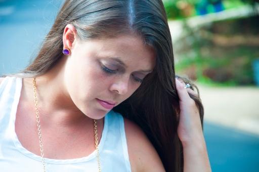 Purple Kate Spade earrings