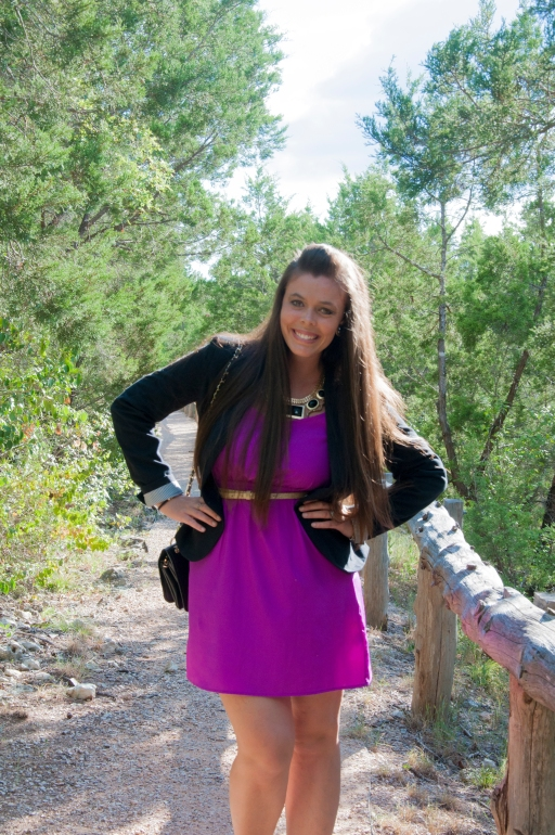 Blazer and Purple Dress11
