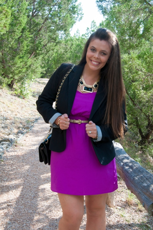 Blazer and Purple Dress2