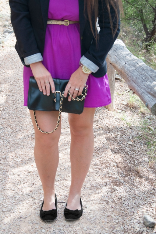 Blazer and Purple Dress6