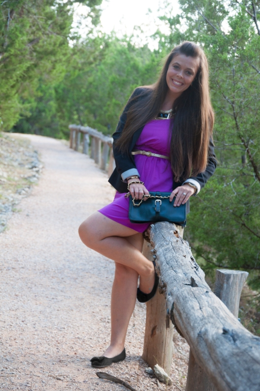 Blazer and Purple Dress8