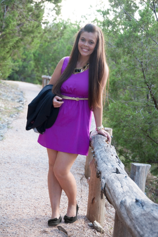 Blazer and Purple Dress9