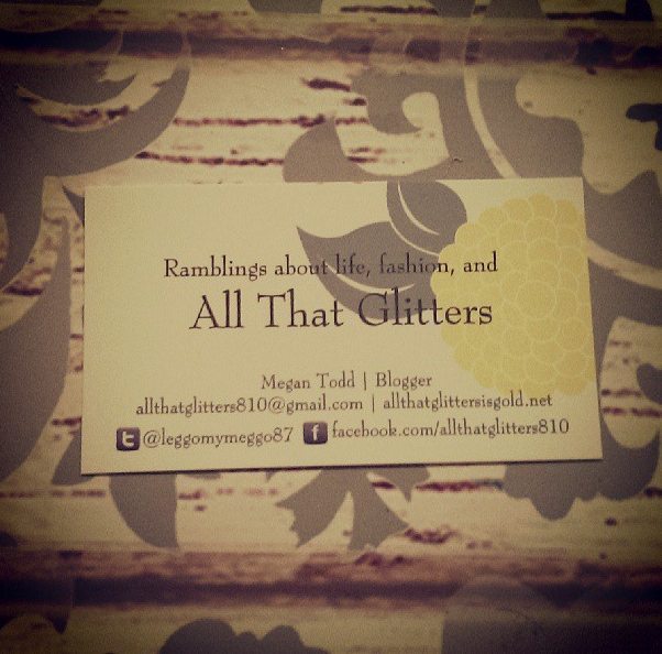 All That Glitters business card