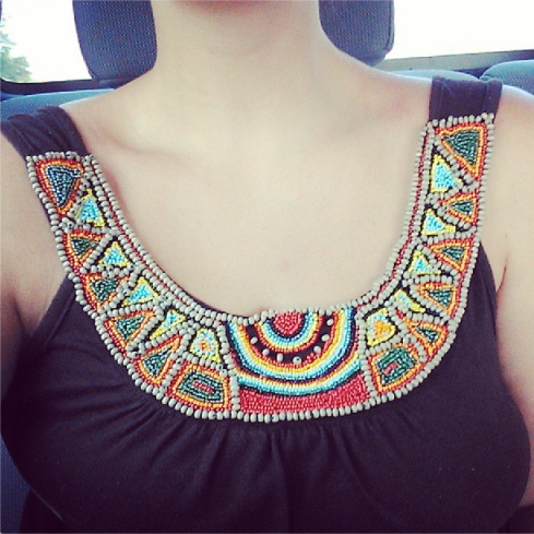 Beaded Native top