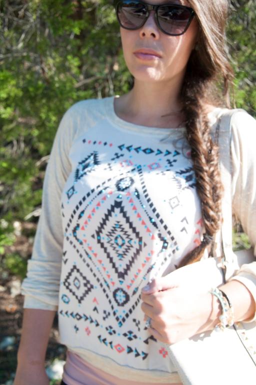 Aztec Print Shirt