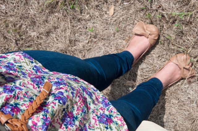Floral tank and bow flats