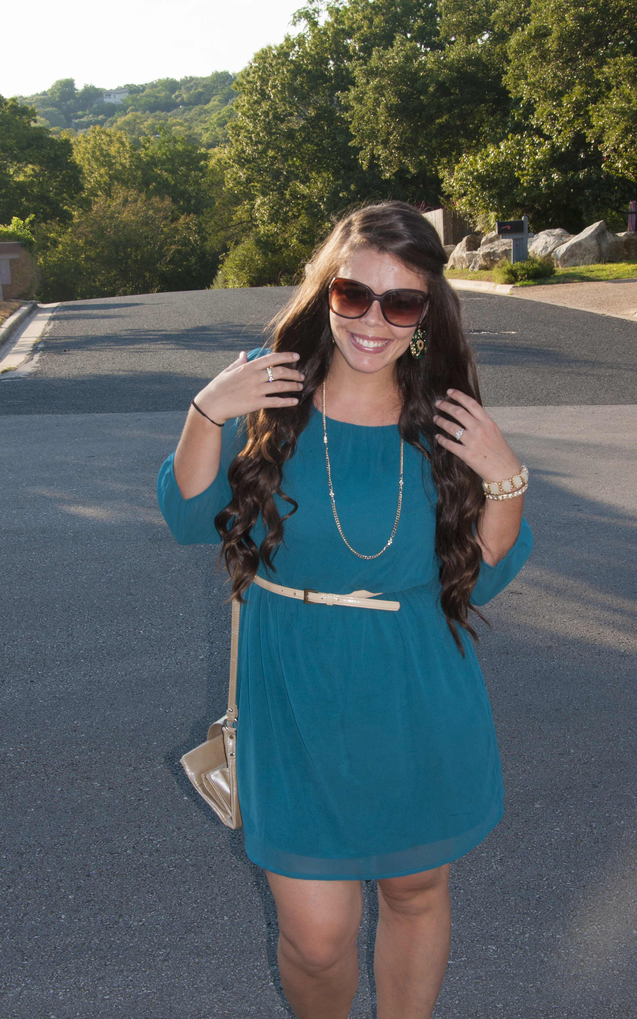 Teal And Gold A Work Party Dress  All That Glitters-9514