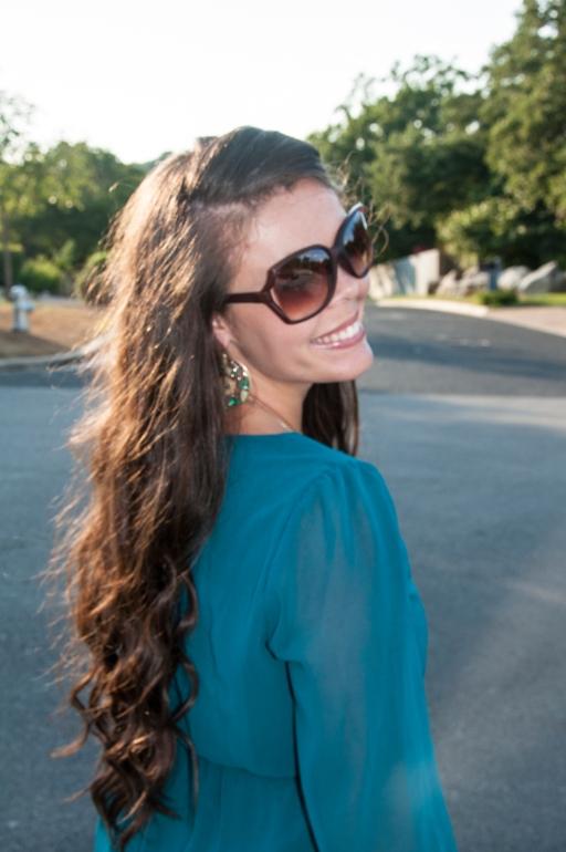 Long curly brown hair