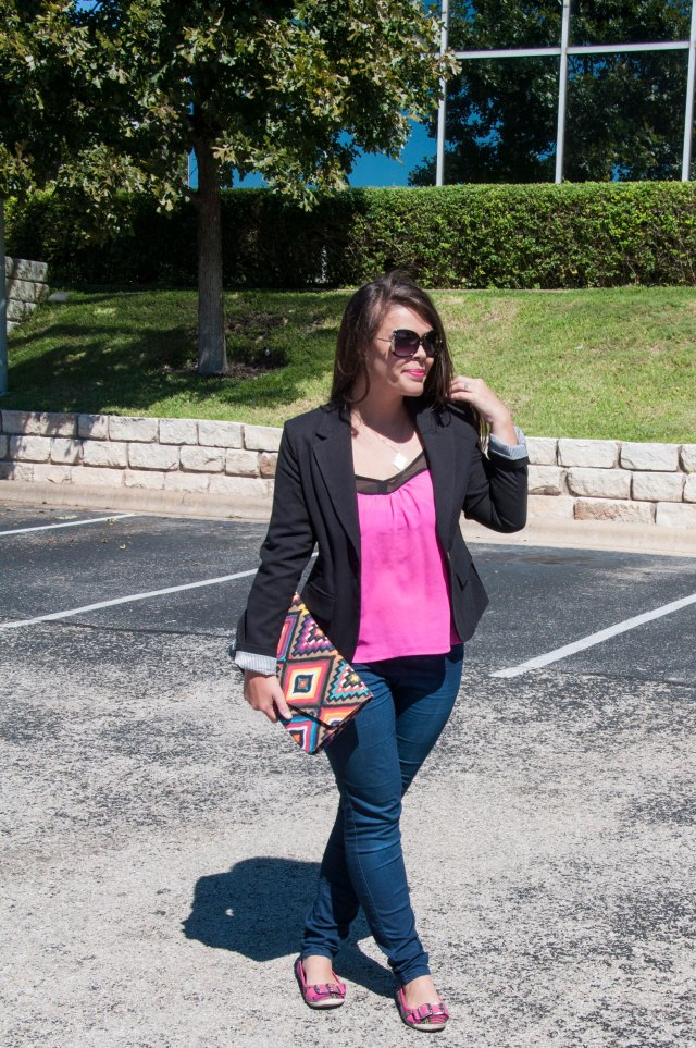 Pink and Black with aztec