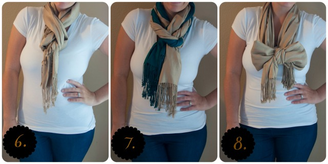 Three more ways to wear a scarf